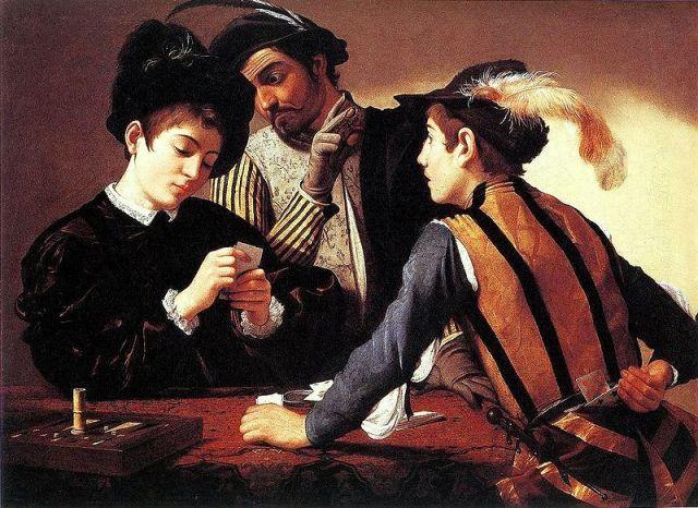 Kortspillerne af Caravaggio