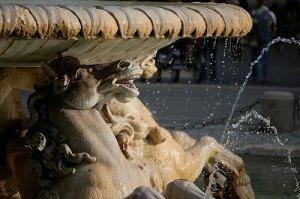 Fontana di Cavalli Marini i Vlla Borghese-parken