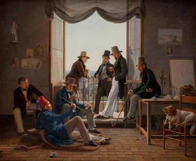 Danske kunstnere i Rom i 1837. Maleri af Constantin Hansen på Statens Museum for Kunst.