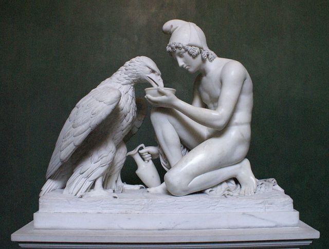 Hyrdedrengen Ganymedes og Jupiters ørn fra 1817