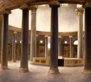 Vilhelm-Hammersh-i-Interior-of-the-Church-of-Santo-Rotondo-in-Rome