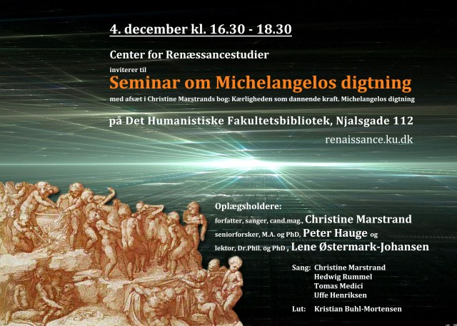 Plakat Michelangelo-seminar KUA december 2014